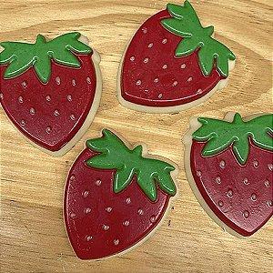 Forma para Chocolate Morango de Chocolate 25g Forma Simples Ref. 9942 BWB 10unid