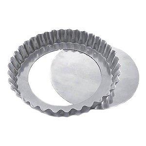 Forma de Aluminio Torta de Maçã Crespa Fundo Falso nº28 Ref. 3007 (27x25x3 cm) BWB 1unid