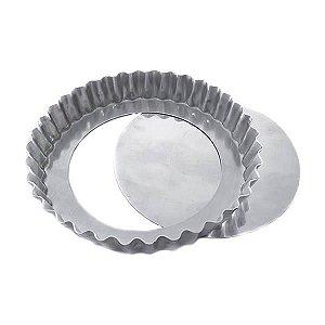 Forma de Aluminio Torta de Maçã Crespa Fundo Falso nº24 Ref. 3008 (23x21.5x2.5 cm) BWB 1unid