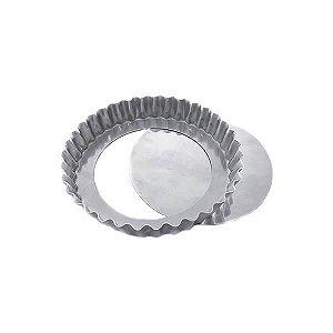 Forma de Aluminio Torta de Maçã Crespa Fundo Falso nº13 Ref. 3011 (12.5x11.5x2 cm) BWB 1unid