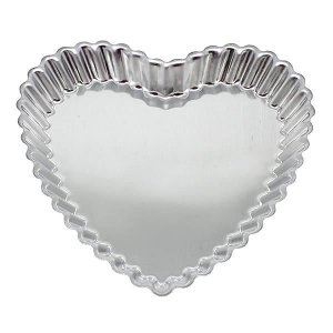 Forma de Aluminio Torta Coração Crespo Ref. 3024 (20.6x20.2x2.6 cm) BWB 12unid