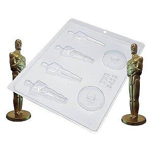 Forma para Chocolate Oscar Estatueta Média 31g Forma Simples Ref. 9429 BWB 5unids