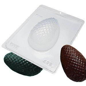 Forma para Chocolate com Silicone Ovo de Páscoa Texturizado Matelassê 250g Ref. 9339 BWB 1unid