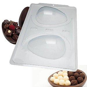 Forma para Chocolate Semiprofissional com Silicone SP50 Ovo de Páscoa 350g Ref. 3618 BWB 1unid