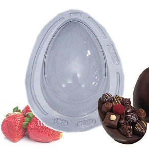 Forma para Chocolate com Silicone Ovo de Páscoa 750g Ref. 52 BWB 1unid