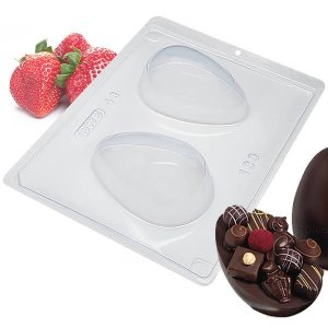 Forma para Chocolate com Silicone Ovo de Páscoa 100g Ref. 48 BWB 1unid