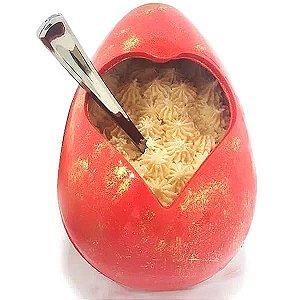 Forma para Chocolate com Silicone Ovo Vazado Coração Grande 500g Ref. 9584 BWB 1unid