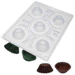 Forma para Chocolate com Silicone CupCake Mini Ref. 110 BWB 1unid