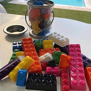 Forma para Chocolate Semiprofissional Lego Blocos de Chocolate Ref. 3644 BWB 5unid