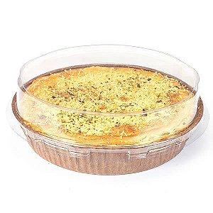 Forma para Torta (Pie) P 9x2cm Marrom com Tampa Linha Top Ecopack Ref.PET9020M 10unids Sulformas