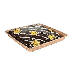 Forma para Brownie G 16.3x1.6cm Quadrada Marrom Linha Top Ecopack Ref.PE163163M 5unids Sulformas