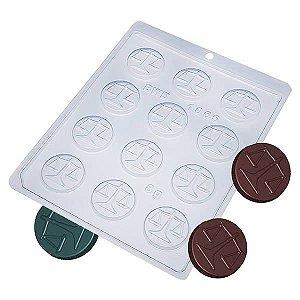 Forma para Chocolate Moeda Balança Direito Juiz Advogado 8g Forma Simples Ref. 1065 BWB 5unids