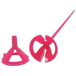 Suporte para Bexiga Pega Balão Rosa Sólido Ref. 9494 BWB 10unid