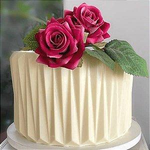 Placa Origami Cake Vincado Delicado Ref. 10144 BWB 1unid