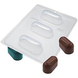 Forma para Chocolate com Silicone Trufa Alongada 75g Ref. 55 BWB 1unid