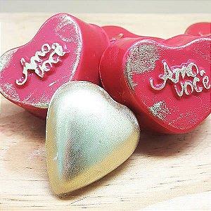 Forma para Chocolate com Silicone Trufa Coração Amo Você 26g Ref. 800 BWB 1unid