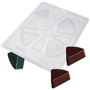 Forma para Chocolate com Silicone Trufa Pizza 40g Ref. 1237 BWB 1unid