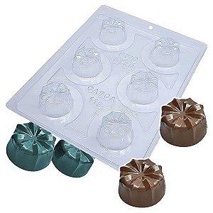 Forma para Chocolate com Silicone Trufa Detalhada Lótus 28g Ref. 9729 BWB 1unid