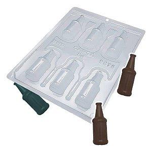 Forma para Chocolate com Silicone Garrafinha de Licor Mini Garrafa 32g Ref. 9875 BWB 1unid