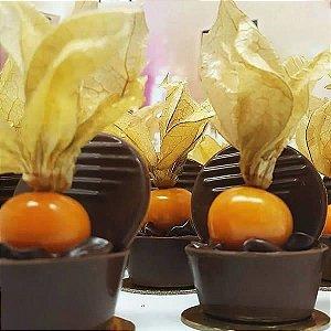 Forma para Chocolate com Silicone Mini Caixa Redonda 22g Ref. 855 BWB 1unid