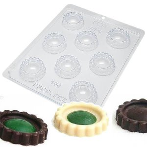 Forma para Chocolate com Silicone Biscoito Recheado Liso 15g Ref. 873 BWB 1unid