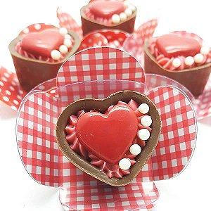 Forma para Chocolate com Silicone Buffet Coração 9g Ref. 240 BWB 1unid