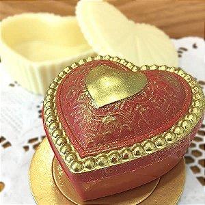 Forma para Chocolate com Silicone Coração Porta Jóias 85g Ref. 1094 BWB 1unid