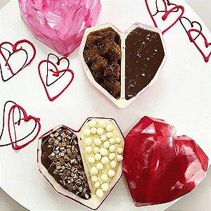 Forma para Chocolate com Silicone Coração de Colher Dois Amores 135g Ref. 10164 BWB 1unid