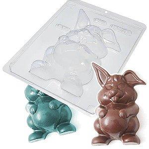 Forma para Chocolate com Silicone Coelha Gravida Frente 116g Ref. 815 BWB 1unid