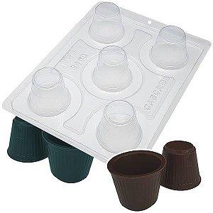 Forma para Chocolate com Silicone Copinho de Café 18g Ref. 9460 BWB 1unid