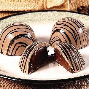 Forma para Chocolate Semiprofissional com Silicone Trufa Pequena Especial SP 41 11g Ref. 3501 BWB 1unid