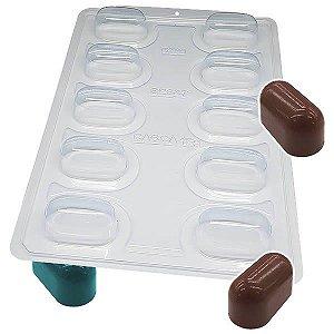 Forma para Chocolate Semiprofissional com Silicone Mini Trufa Alongada SP 847 Ref. 3522 BWB 1unid