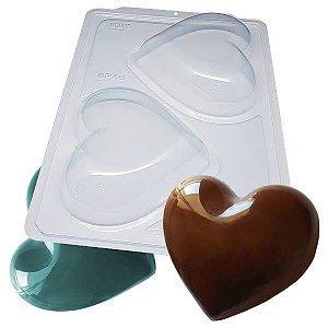 Forma para Chocolate Semiprofissional com Silicone Coração Especial SP 46 500g Ref. 3511 BWB 1unid