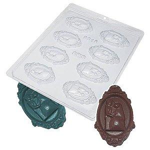 Forma para Chocolate Camafeu Noivos 7g Forma Simples Ref. 9315 BWB 5unids