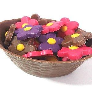 Forma para Chocolate Cestinha 130g Forma Simples Ref. 131 Cesta BWB 5unids