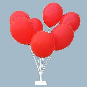 Suporte de Balões com Base de FERRO Ref. 270 (Conjunto montado 10x10x50 cm) Decoração com Bexigas BWB 1unid