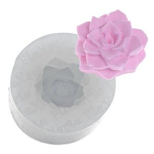 Molde de Silicone Mini Suculenta cod. 160 flexarte (1unid) Molde Forneavel, Molde para Biscuit e Sabonete