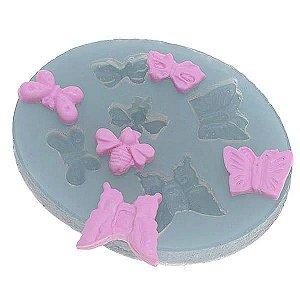 Molde de Silicone Borboletas cod. 116 flexarte (1unid) Molde Forneavel, Molde para Biscuit e Sabonete