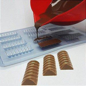 Forma para Chocolate Bombom Detalhado13 8g Forma Simples Ref. 9590 BWB 5unids