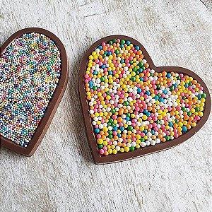Forma para Chocolate Corações em Placa 50g Forma Simples Ref. 9941 BWB 5unids