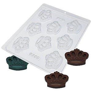 Forma para Chocolate Coroa da Rainha 13g Forma Simples Ref. 9358 BWB 5unids
