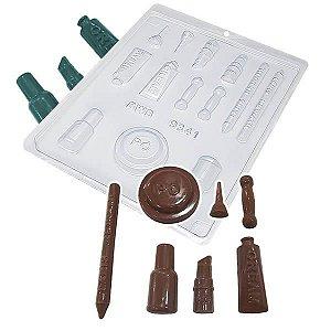 Forma para Chocolate KIT Maquiagem Forma Simples Ref. 9341 BWB 5unids