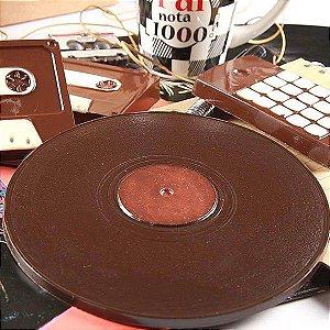Forma para Chocolate Disco Compacto 115g Forma Simples Ref. 1426 BWB 5unids