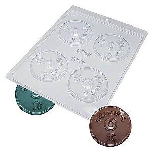 Forma para Chocolate Mini CD Mãe você é (10 dez) 7g Forma Simples Ref. 9373 BWB 5unids