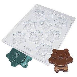 Forma para Chocolate Bolacha Panda Bonito 15g Forma Simples Ref. 9413 BWB 5unids
