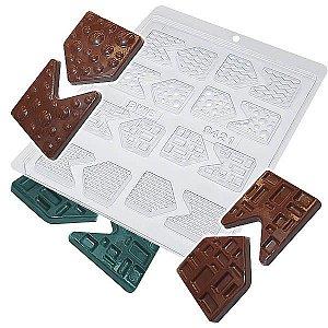 Forma para Chocolate Bandeirinhas Forma Simples Ref. 9421 BWB 5unids