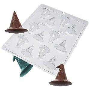 Forma para Chocolate Chapéu de Bruxa 7g Forma Simples Ref. 9432 BWB 5unids