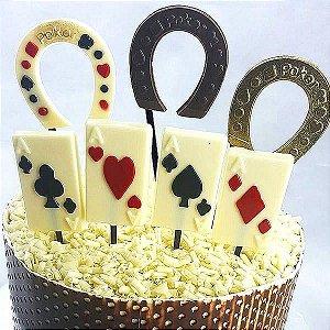 Forma para Chocolate Poker Ferradura 6g Forma Simples Ref. 9466 BWB 5unids