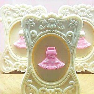 Forma para Chocolate Vestido 4g Forma Simples Ref. 9671 BWB 5unids