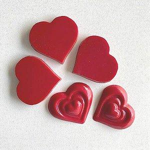 Forma para Chocolate Aplique Corações Forma Simples Ref. 9983 BWB 5unids